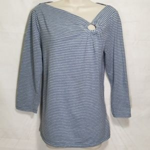 Michael Kors | Striped Top w/Side Ringhole NWOT